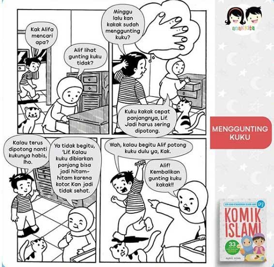 menggunting-kuku-komik-islami
