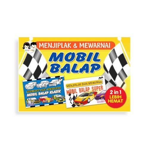 Paket 2 In 1 Menjiplak Mewarnai Mobil Balap Penerbit Buku Anak Anakkita